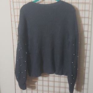 Super cute Ana sweater with beaded sleeves